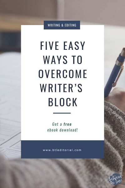 Five Easy Ways to Overcome Writer's Block Plus a Free eBook