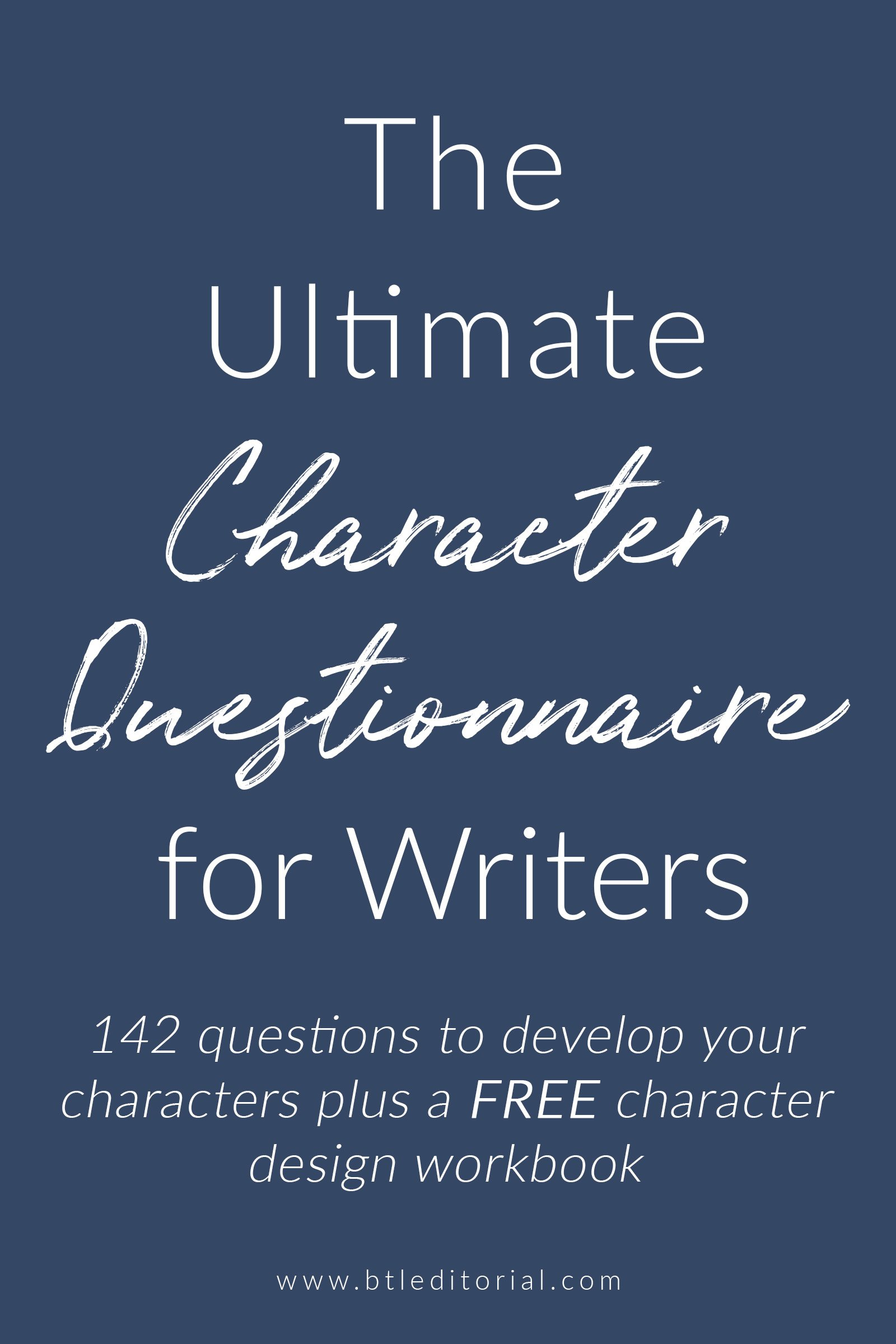 142 questions for character development for your next novel