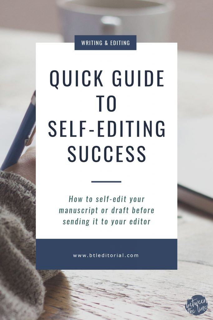 Quick Guide to Self-Editing Success