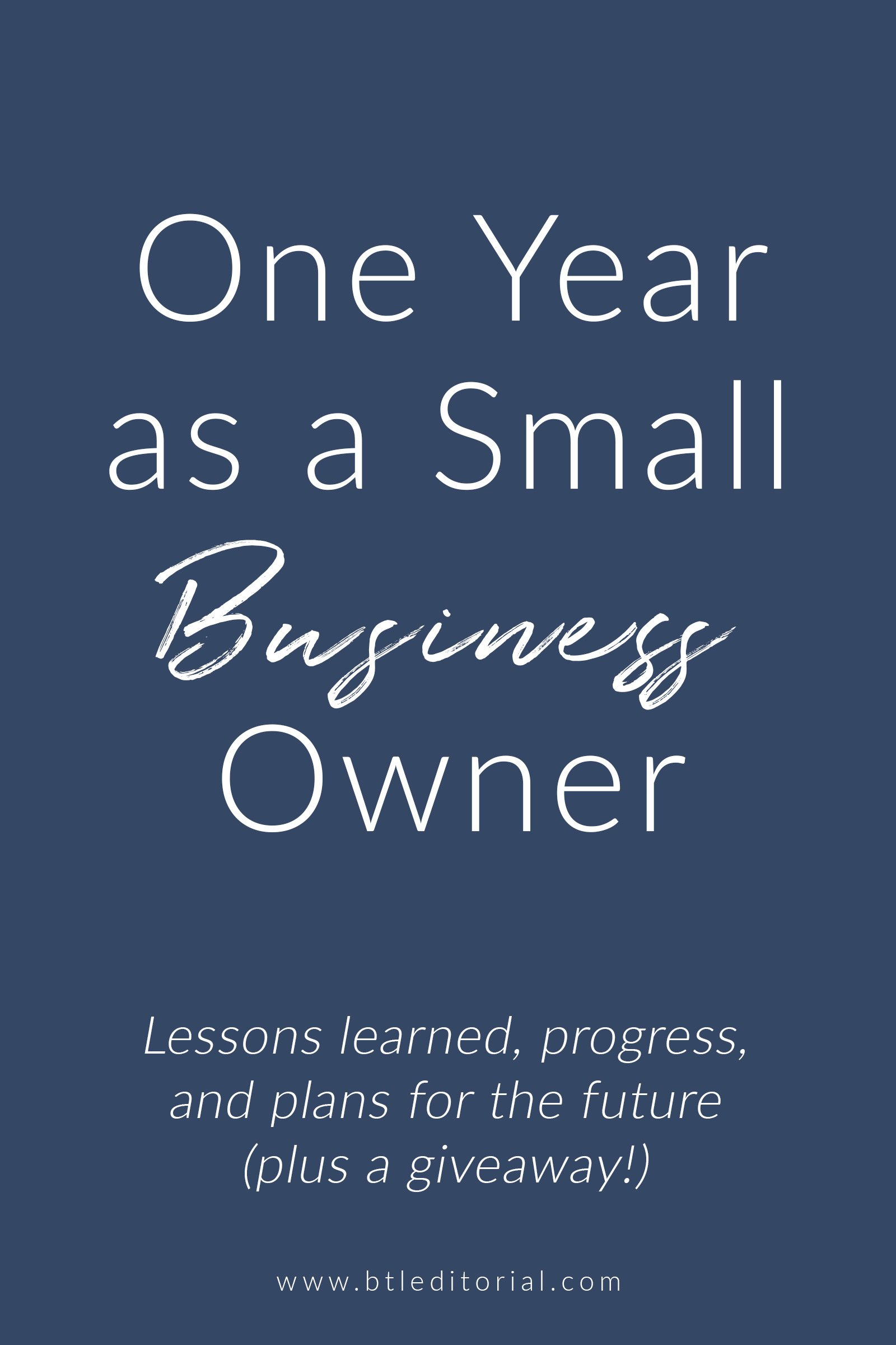 What I learned in my first year as a creative business owner and a small business owner