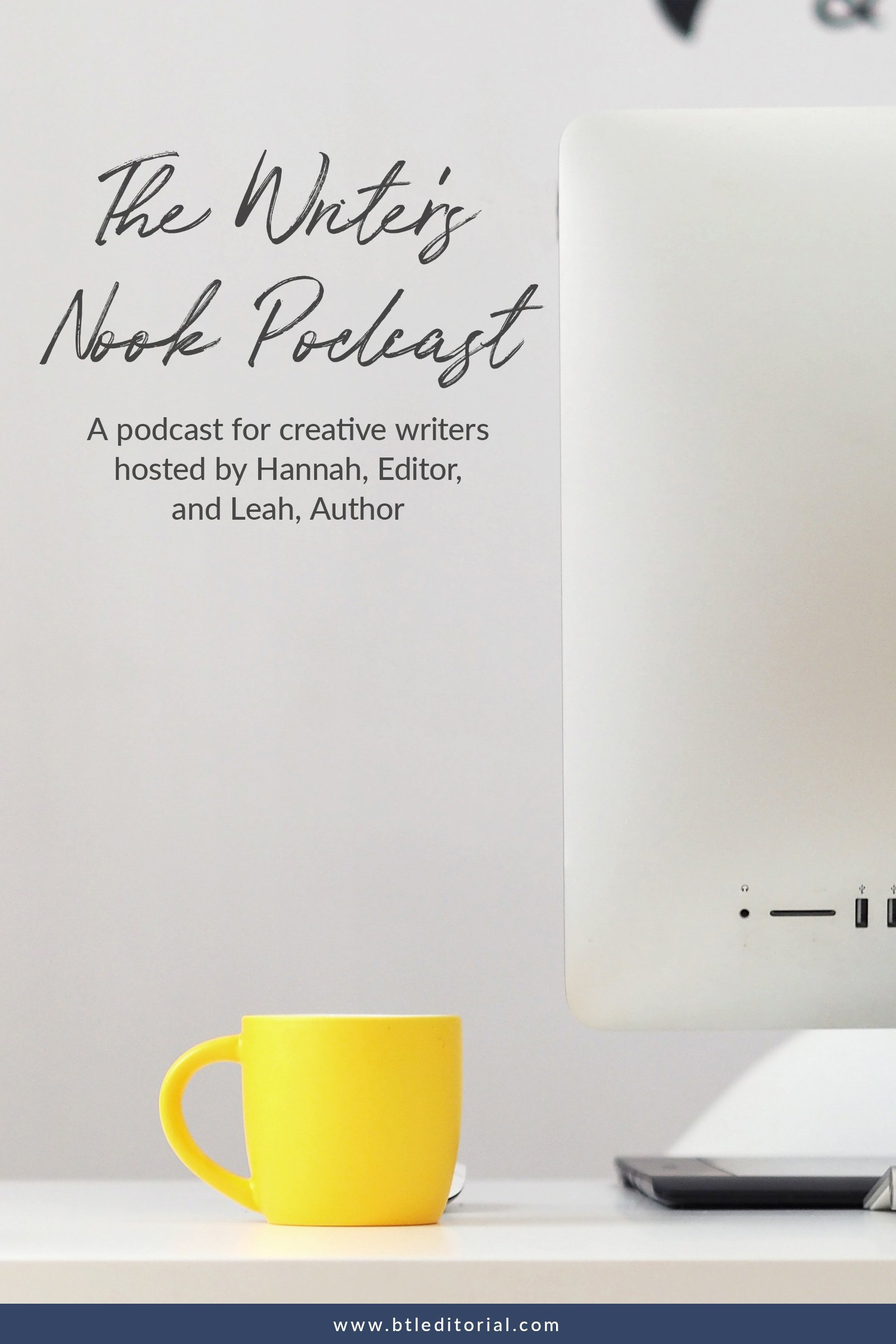 Looking for a podcast for writers? Check out the Writer's Nook Podcast with host Hannah and Leah. They discuss all things writing and publishing. | writing podcast, podcasts for writers, the writer's nook podcast