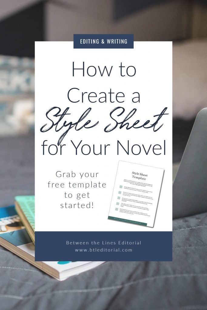 What is a style sheet and how do you build one for your novel? Get your free style sheet template!